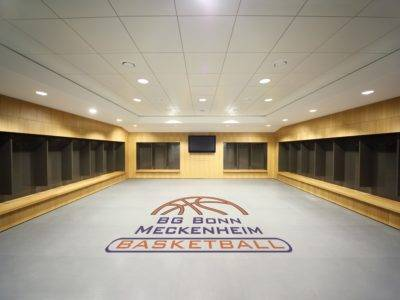 Der Renovierte Boden einer Basketball Halle